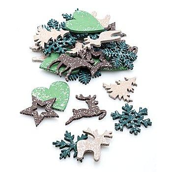 Streuteile 'Weihnachten', 3,5 - 4 cm, 36 Stück