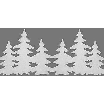 Weihnachtliche Fensterdeko 'Tannen', 28 - 36 cm hoch, 1,2 m lang