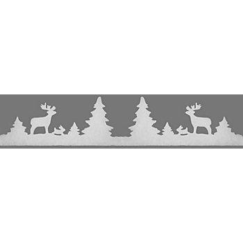 Weihnachtliche Fensterdeko 'Winterwald', 7,5 - 20 cm hoch, 1,8 m lang