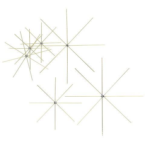 Image of Drahtsterne-Mix-Set, 6 Stück