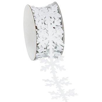 Filzband 'Schneeflocke', weiß, 40 mm, 3 m