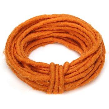 Filzkordel mit Draht, orange, ca. 8 mm Ø, 2 m