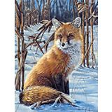 """Malen nach Zahlen mit Acrylfarben, """"Fuchs"""", 23 x 30,5 cm"""