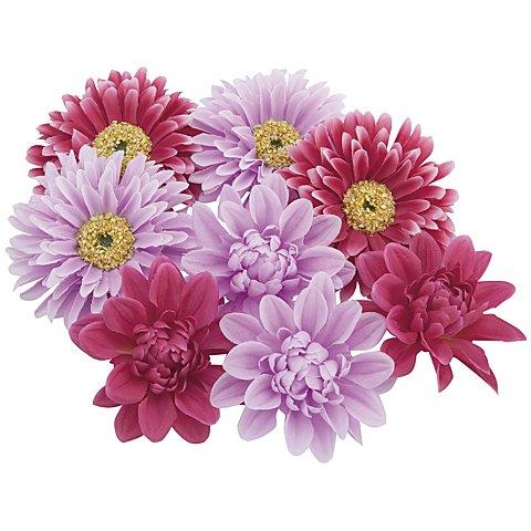 Image of Blütenköpfe, flieder-pink, 7 cm Ø, 8 Stück
