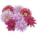 Blütenköpfe, flieder-pink, 7 cm Ø, 8 Stück