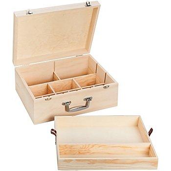 Koffer aus Holz, 35 x 25 x 15 cm