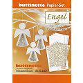 """Kit créatif papier """"anges"""", blanc/or"""