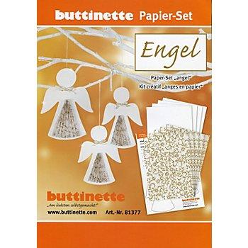Kit créatif papier 'anges', blanc/or