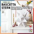 "Folia Transparentpapier-Faltblätter ""Bascetta-Stern"", weiß, 20 x 20 cm, 32 Blatt"