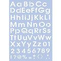 """Schablone """"Alphabet Druckbuchstaben"""", 21 x 29,7 cm"""
