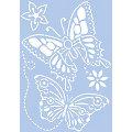 """Schablone """"Schmetterlinge"""", 21 x 29,7 cm"""