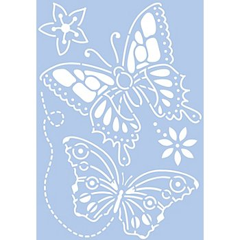 Schablone 'Schmetterlinge'