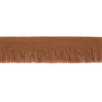 Fransenborte, camel, 75 mm, 3 m