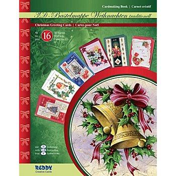 Kit créatif pour cartes 3D 'Noël traditionnel'
