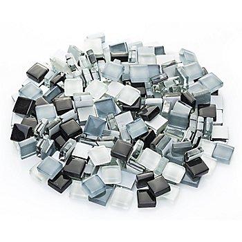 Softglas-Mosaik, grau-mix, 10 x 10 mm, 200 g