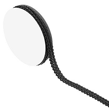 Posamentenborte, schwarz, 10 mm, 5 m
