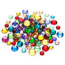 Pierres strass, multicolore, 5, 6 et 7 mm Ø, 100 pièces