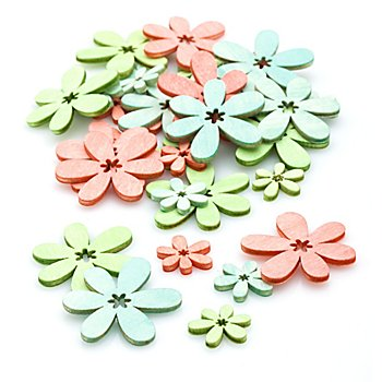 Streuteile 'Blüten', 2 - 4 cm, 36 Stück