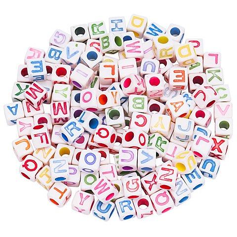 Image of Buchstabenwürfel, bunt, 6 mm, 160 Stück