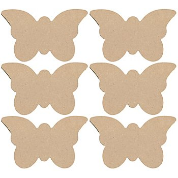 MDF-Schmetterlinge, 14 cm, 6 Stück
