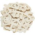 Buchstaben aus Holz, 6 cm, 52 Stück