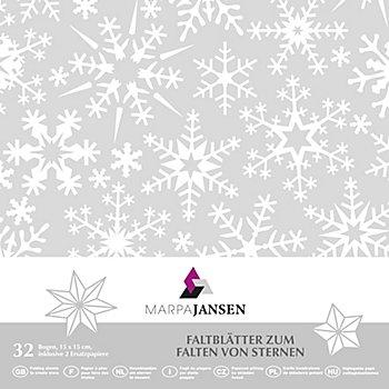 Transparentpapier-Faltblätter 'Schneeflocke', 15 x 15 cm, 32 Blatt