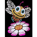 "Sequin Art Image à paillettes ""abeille"""