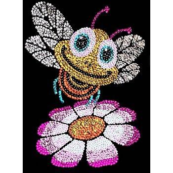 Sequin Art Paillettenbild 'Biene'