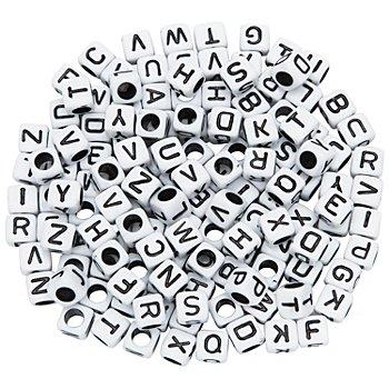 Buchstaben-Würfel, weiß-schwarz, 160 Stück