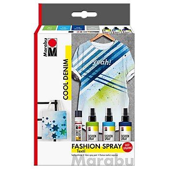 Marabu Fashion-Spray-Set 'Cool Denim', 3x 100 ml