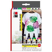 Set de peinture pour tissu 'Fashion-Spray' de Marabu 'Tropical Island'