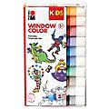 Marabu KIDS Set de peintures Window Color, couleurs primaires