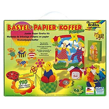 Folia Bastelpapier-Koffer 'Frühjahr', 110-teilig