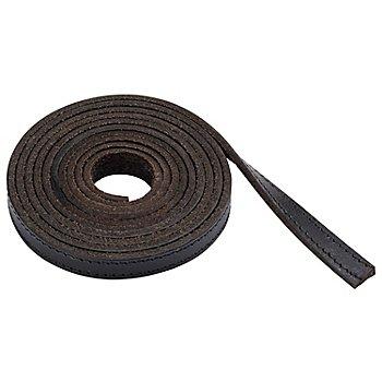 Lederband, schwarz, 1 cm, 1,5 m
