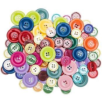 buttinette Set éco de boutons standard, 2 - 3 cm Ø, 100 pièces