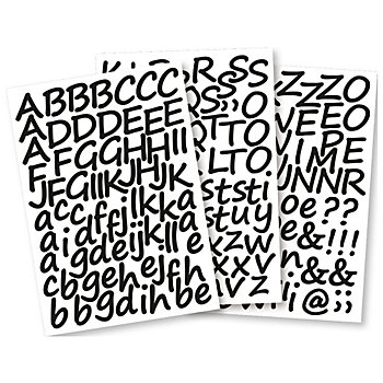 Klebebuchstaben Schreibschrift, selbstklebend, weiss, 3 cm