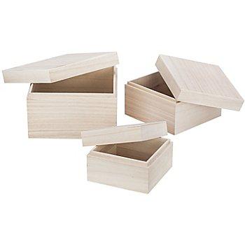 Boxen aus Holz, 3 Stück