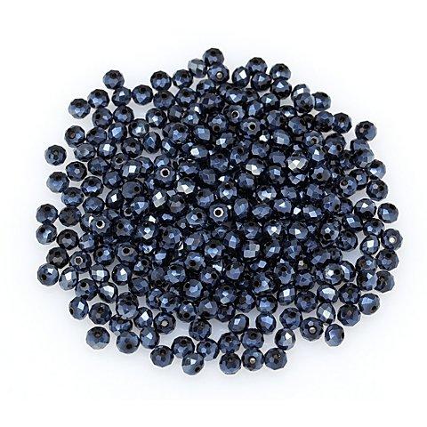 Image of Facettierte Glasperlen, blau, 4 mm Ø, 300 Stück