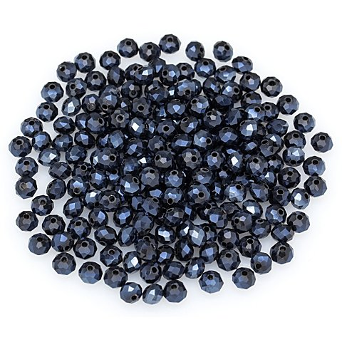 Image of Facettierte Glasperlen, blau, 6 mm Ø, 200 Stück