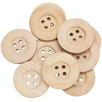 Knöpfe aus Holz, 4 cm Ø, 15 Stück