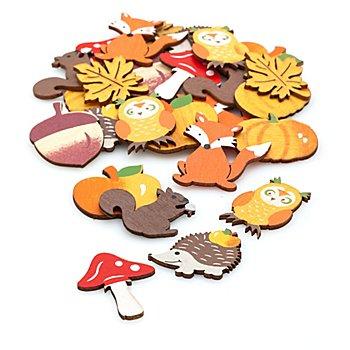Streuteile 'Herbstmotive', 2,5 - 3,5 cm, 27 Stück