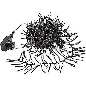 Guirlande lumineuse LED, pour l'extérieur, 588 ampoules, noir