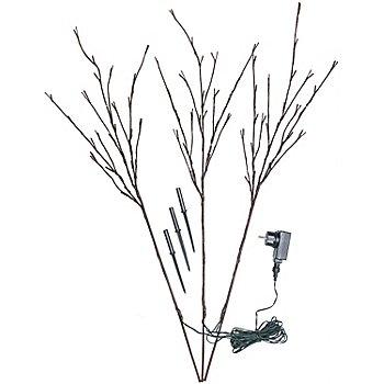 LED Zweige-Set für den Außenbereich, 72 Birnchen, braun