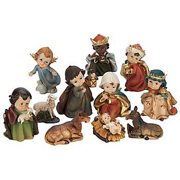 Kindliche Krippenfiguren, 3,5 - 6 cm