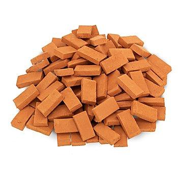 Ziegelsteine, dunkelrot, 2,3 x 1,1 cm, 100 Stück