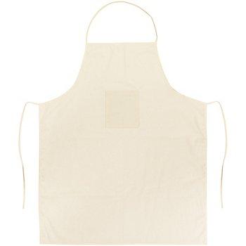 Tablier de cuisine pour adultes, écru, 70 x 85 cm
