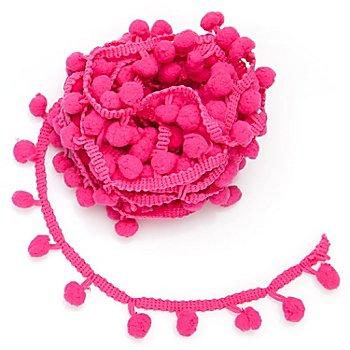 Pompon-Borte, pink, 20 mm, 5 m