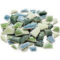 Flip Keramik-Mosaik mini, grün-mix, 1–2 cm, 200 g