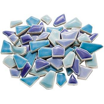Flip Ceramic-Mosaik mini, blau-mix, 1 - 2 cm, 200 g