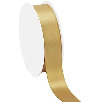 Satinband, gold, 25 mm, 25 m